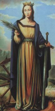 Św. Katarzyna,  Patronka Zgromadzenia Zgromadzenia Sióstr Św. Katarzyny Dziewicy i Męczennicy, założonego przez bł. Reginę Protmann